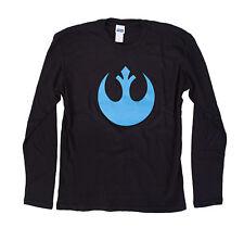Star Wars Rebel Blue Symbol Black Thermal Shirt