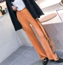 Korea simple fashion drop loose wide leg straight casual mopping pants women