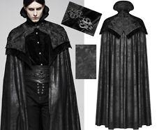 Cape longue manteau laine satin gothique baroque vampire collerette PunkRave