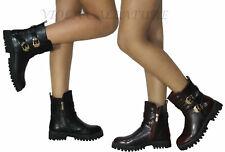 Stivaletti Donna Stivali Biker Boots n°36 37 38 39 40 art 843