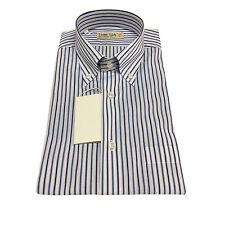 ICON LAB 1961 camicia uomo mezza manica righe blu/azzurro 100%cotone regular fit