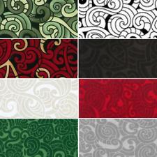 Kiwiana Moko Abstract Swirls Tattoo 100% Patchwork Cotton Fabric (Nutex)