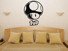 SETA 1up MARIO GAME VIDEOJUEGOS WII NINTENDO Dormitorio ADHESIVO pared imagen