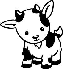 Baby Goat Decal Window Bumper Sticker Car Decor Cute Kid Caprine Farm Pet Love