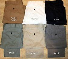 Ex M&S Men's Chinos Pants Trousers Blue Harbour Straight Leg Regular Fit Cotton