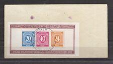 1945 Gemeinschaftsausgaben Mi. Block 12 A gestempelt Sonderstempel auf Umschlag