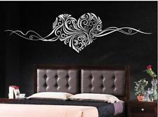 Scroll Heart swirl  large Living Room Bedroom Wall Art Vinyl Decal Sticker V183