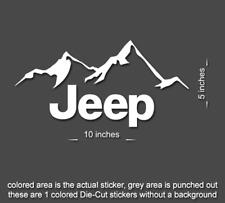 "2 x 10"" Jeep Mountain Wrangler Decal set stickers fender TJ JK CJ YJ rubicon"