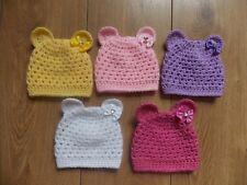 Baby Bear Beanie Hats Crochet Handmade Photo Prop 4 sizes