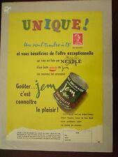 B0- Vieille publicité lait aromatisé Jem de Nestlé 1957