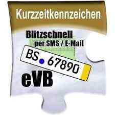 Kurzzeitkennzeichen Versicherung 5-Tage / 5 Tage Kurzkennzeichen + IVK + eVB SMS