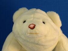 Vintage 1980 Gund Plush White Snuffles Teddy Bear Cute Stuffed Animal Toy