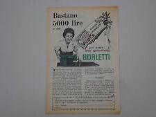 advertising Pubblicità 1954 MACCHINA PER CUCIRE BORLETTI