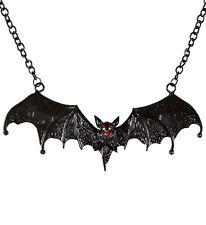 IAL Kostüm Zubehör Fledermaus Kette Vampir Hexe Dracula Halloween Halskette