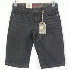 New Mens Converse One Star Vintage Denim Shorts Slim Straight Gray 28