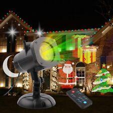 LED RGB Waterproof Projector Lamp Christmas Star Effect Garden Xmas Decoration