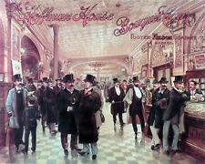 Vintage POSTER.Stylish Graphics. Hoffman's House.Room Cigar Decor Art. 1882
