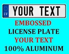 Latvia Latvian European Euro License Plate Number Plate Custom Text Customized