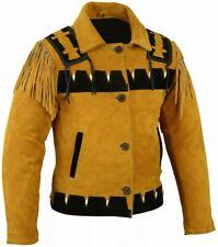 Western-Lederjacke aus echtem Rindsleder