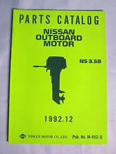 NOS Nissan M-453-B Outboard Boat Motor Parts Catalog NS 3.5B, 1992.12