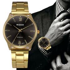 Fashion Man Crystal Stainless Steel Analog Quartz Wrist Watch Business Watch