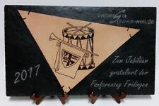 Schild, Tafel aus Leder und Schiefer inkl.Foto-, Wunschgravur! 450x300x5mm