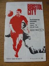 07/01/1967 Bristol City v Wolverhampton Wanderers  (Creased, Rusty Staples). No
