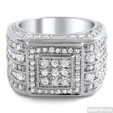 5 Carat CZ Mens Superbowl Ring Sterling Silver