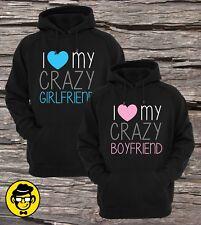 I Love My Crazy Girlfriend, I Love My Crazy Boyfriend Couple Hoodies (Set)