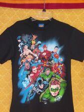Justice League SHIRT Black Superman Batman Vixen Green Lantern Arrow Tornado NWT