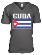 Cuba Flag Colors Font Cuban Soccer Heritage Born From CUB Men's V-Neck T-Shirt