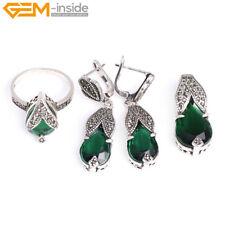Womens Rivet Tibetan Silver Plated Pendant Earrings Rings Jewelry Sets Gift GI