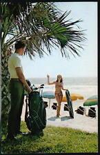 MYRTLE BEACH SC Golf & Bathing Beauty Girl Vtg Postcard
