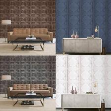 Fine Decor/Arthouse Rustic Wood 3D Effect Panel Wallpaper 10m 4 Colours
