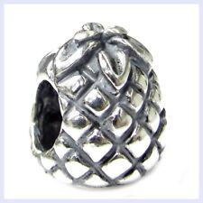 925 Sterling Silver Pineapple Fruit Cocktail Bead for European Charm Bracelet