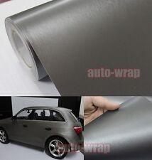Optional - Car Metallic Matte Brushed ALUMINUM Vinyl Wrap Sticker Film Grey AB