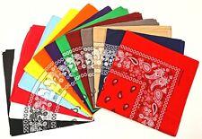22x22 Paisley Bandana Scarf Hankerchief Do Rag Doorag 100%Cotton (select color)