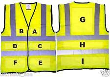 PERSONALISED HI VIS SAFETY VEST WAISTCOAT BS EN471- Multi position option