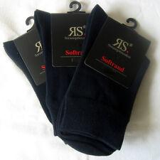 3 Paar Harmony Damen Socken ohne Gummi weicher Softrand dunkelblau 35 bis 42