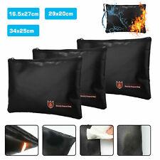 Fireproof Waterresistant Money Safe Cash Box Secret Document Bag File Pouch Case