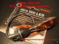Kellermann Clignotant micro 1000 LED, chrome, 125.100, indicateur, chrome, Moto