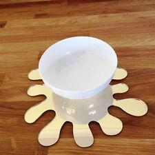 forma de salpicadura Set de Mantel individual - ESPEJO DORADO