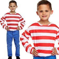 bambini Rosso e bianco a righe maglia Costume Book Week ETÀ 4-12 anni