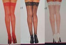 Music Legs Fishnet Mesh Thigh High Stockings Lace Topper Plus Backseam 4919