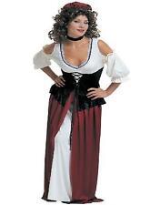 Damen Kostüm Mittelalter Wirtin Maid Winzerin Gr. 34 36 38 40 42 44 46 48