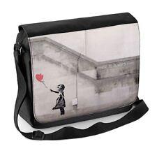 Banksy Girl With Heart Balloon Laptop Messenger Bag - Balloons