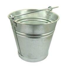 12 Litre Bucket Galvanised Metal Heavy Duty Water Coal Fire Garden Fishing