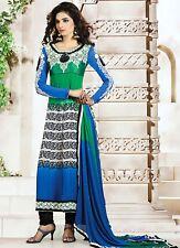 Designer Anarkali Salwar Kameez dupatta Pakistano Indiano Suit Dress-NEW 2015