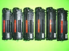 6 Toners for HP LaserJet 1012 1015 1018 1020 1022 3015 3020 3030 3050 Q2612A 12A