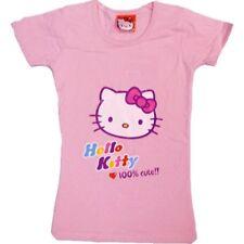 Chicas HELLO KITTY Camisetas de manga corta edades 4 6 8 años Rosa